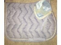 Hkm saddle pad and ear bonnet