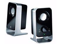 Logitech LS11 2.0 Stereo Speaker System - Black/Silver, New unused boxed