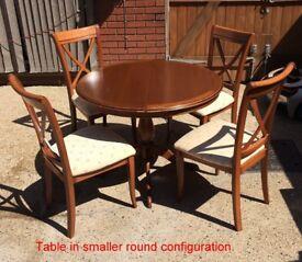 Expanding Teak Effect Dining Table