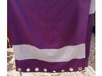 Purple Diamonte Trim Curtains