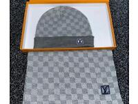 Lv hat and scarf