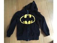 Boys batman hoodie age 5/6 worn once