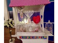 Candy Cart / Sweet Cart for Hire , Wedding Arch & Rose Trees