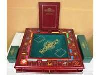 Used Limited Edition Franklin Mint Monopoly game and 4 Monopoly Game Chairs