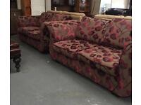 ** 3+3 PATTERNED SUITE, GOOD CONDITION - CAN DELIVER **