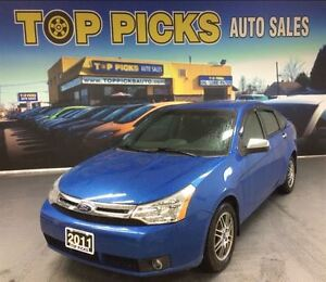 2011 Ford Focus SE, ALLOY WHEELS, AUTOMATIC, ONLY 68,000 KMS!
