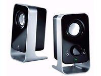 Logitech LS11 2.0 Stereo Speaker System - Black/Silver