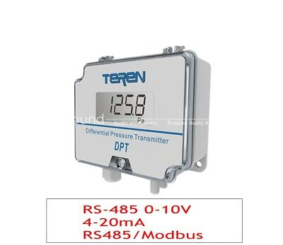 Digital Differential Pressure Transmitter Sensor 0-10v Air Rs-485