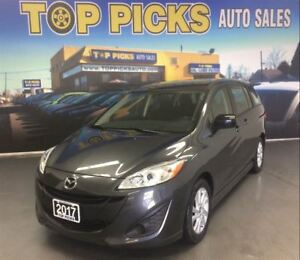 2017 Mazda MAZDA5 GS, AUTOMATIC, ALLOYS, MOONROOF, 7 PASSENGER!