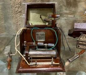 **SOLD** Victorian Britelec Electric Shock Machine With Attachments and Instructions