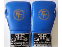 Furiousfistsuk Genuine Leather Sparring Lace Ups 10oz Gloves