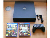 PS4 PRO 1TB with GTA 5 and Rocket league