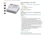 CASIO SE-G7 Electronic Cash Register - white - retail / shop