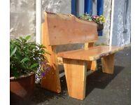 Solid Wooden Rustic Garden Bench