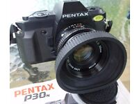 Pentax P30n camera with instructions