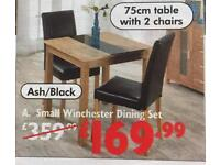 Table and 2 x chairs