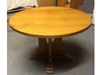 Solid Oak Round Table