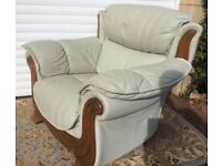 Arm chair, large, soft leather , comfortable, good condition