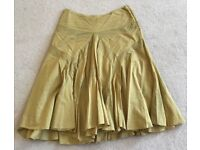 All Saints Skater Skirt in Mustard - size 12 - perfect condition