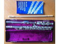Jupiter JFL-511ESSC flute. Hardly used. Box, case, cloths, etc. Pickup Carluke.