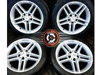 """17"""" Genuine Mercedes AMG C Class alloys staggered excellent matching tyres."""