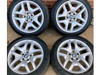 BMW X3 M Sport 18 inch Alloy Wheels 5 x 120 Genuine Staggered Style 192 E83 E90 E46 3 Series