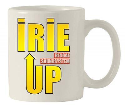 IRIE UP REGGAE SOUND SYSTEM CERAMIC MUG  - Jamaica Rastafarian Reggae Rasta Gift