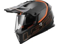 LS2 MX436 PIONEER ELEMENT Matt Black Titanium Helmet