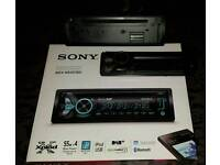 Sony car stereo including alpine speakers