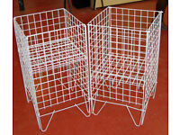 Dump Bins x 2 - Shop Fittings, Retail Display - Square Display Baskets