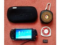 SONY PSP 1000/ 1003 + Official SONY Charger + Burnout Legends + Soft Case + 32MB Memory Stick