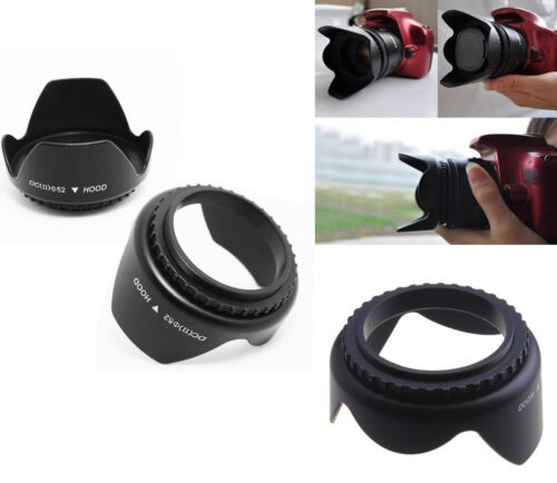 52mm Flower Petal Shape Camera Lens Hood for Nikon Canon Sony 52mm Lens Camera