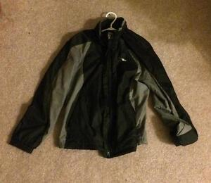 Black and Grey Wind Breaker Jacket