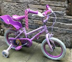 "Girls Disney Princess Bike 14"" - Excellent Condition"