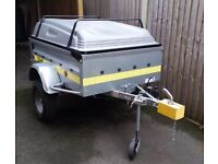 Franc 5ft Trailer with Lockable ABS Lid and Lots of Extras. Ideal Camping etc.