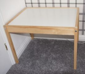 IKEA Kids White Solid Pine LATT Table