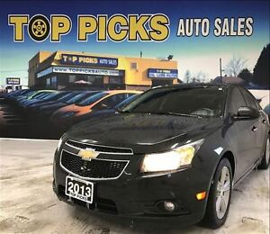 2013 Chevrolet Cruze LTZ TURBO, LEATHER, HETAED SEATS, LOW MILEA