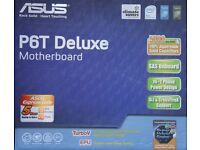 ASUS P6T DELUXE MOTHERBOARD - ## this is brand new & and a complete package ##
