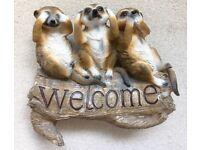 Lovely Meerkat Welcome Statue