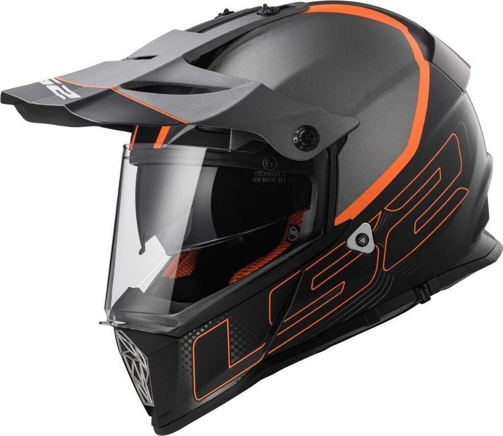 LS2 MX436 PIONEER ELEMENT Matt Black Titanium Helmet