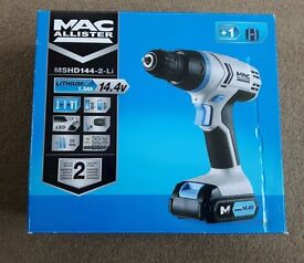 Macallister Hammer Drill 14.4V Li Ion 2 Battery MSHD144 (Brand New)