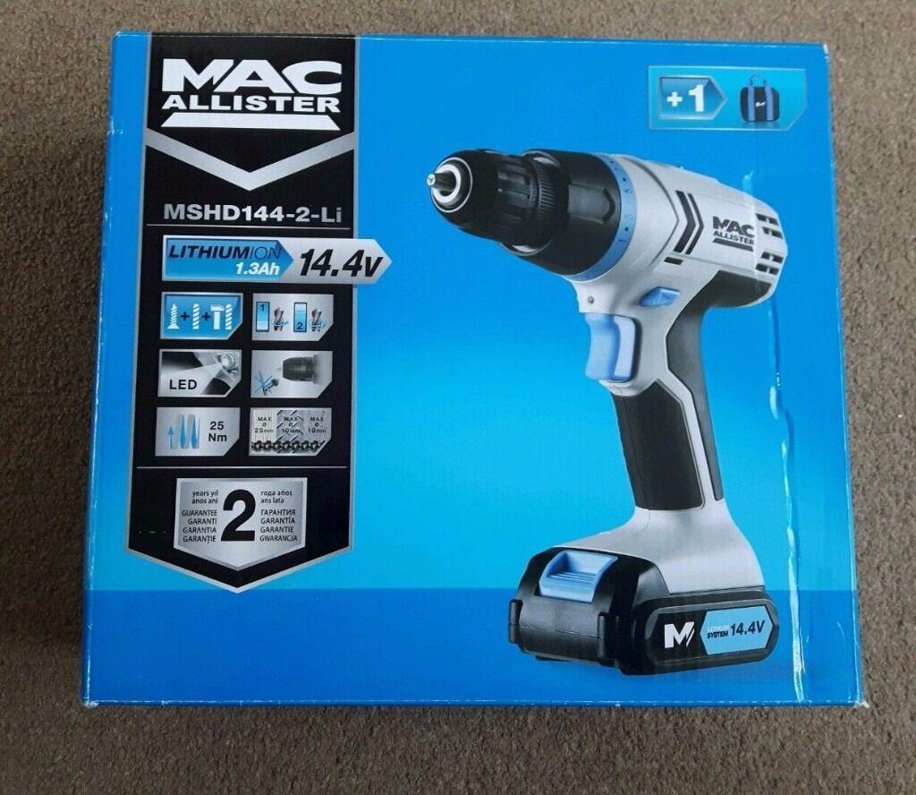 Macallister Hammer Drill 14.4V Li Ion 2 Battery MSHD144 (Brand New)