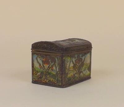 Antique Imperial Russian Tin Tea Box by brothers Popov circa 19th Century.