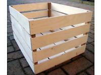 New wooden Apple Crate.Pot plant display storage etc