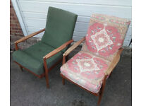 Two ARMCHAIRS (1950s/60s/70s?) - for further restoration