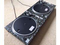 2 X Technics SL-1200 MK2 Turntables With Custom Digital Camo Covers