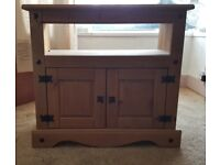 Stylish Mexican Pine TV Stand **EXCELLENT CONDITION**