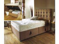 Shannon Ottoman Storage Bed Frame Brand New