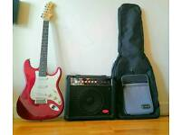 Aria Electric guitar with Stagg Amp and Carry Bag in GOOD CONDITION