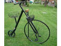 Black Metal Bike for Garden Plants